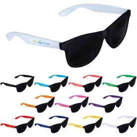 Two-Tone Black Frame Sunglasses