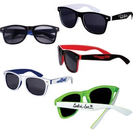 Two Tone Glossy Sunglasses
