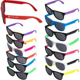 Two Tone Plastic Sunglasses