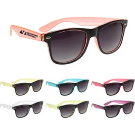 Two-Tone Translucent Malibu Sunglasses