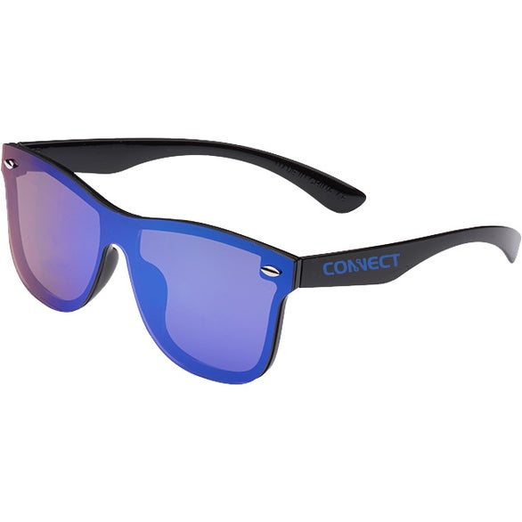 Blue / Black Upper Decks Mirrored Sunglasses
