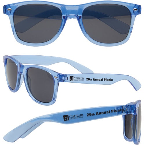 Translucent Blue Vibrant Translucent Sunglasses