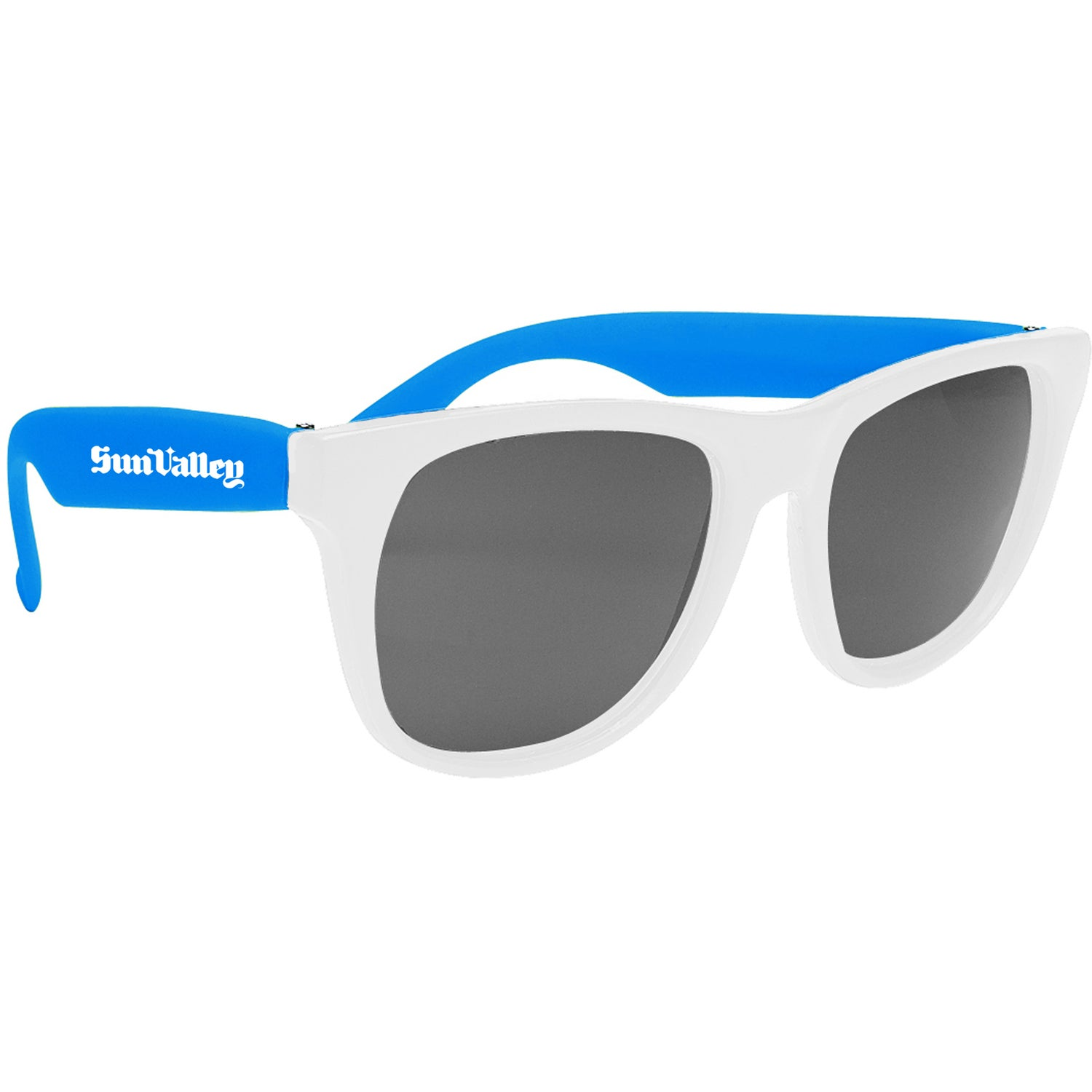 Promotional White-Framed Sunglasses with Custom Logo for $0.628 Ea.