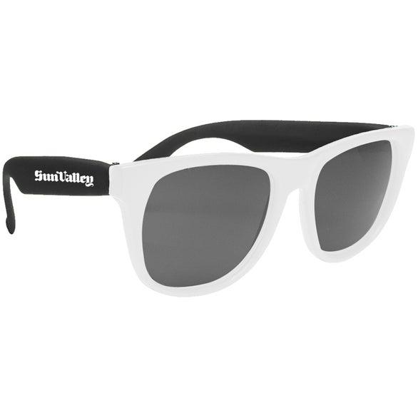 Promotional White-Framed Sunglasses with Custom Logo for $0.628 Ea.