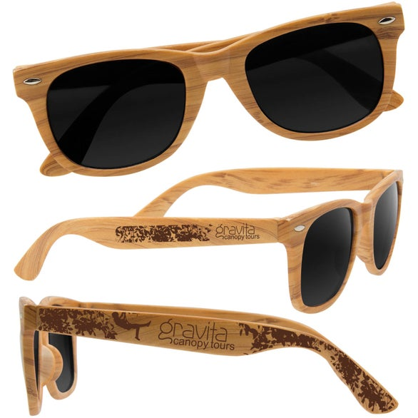 Wood Grain Wood Grain Design Sunglasses