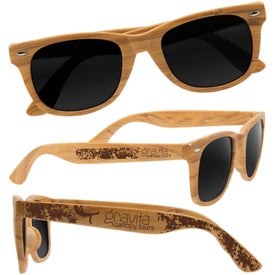 Wood Grain Design Sunglasses