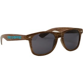 Wood Grain Miami Sunglasses