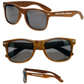 Wood Tone Sunglasses