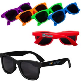 Single-Tone Matte Sunglasses (Youth)