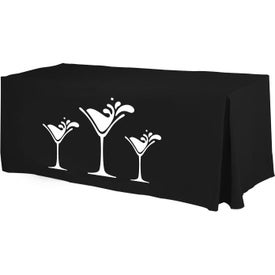 Economy Fitted Table Cover (4-Sided, Front)