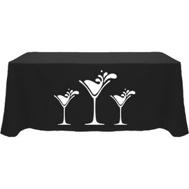 Table Cover (6 Ft. Table, Flat, 4-Sided, Heat Transfer, Colors)