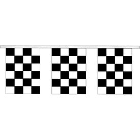 Black and White Checkered Pennant Strings (30 Ft. x 12