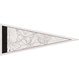 Color-Me Felt Pennant with Printed Strips