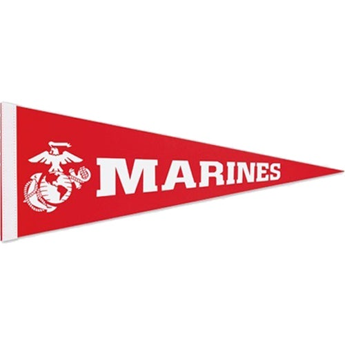 Red Colored Felt Pennant with 1