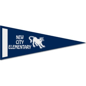 Colored Felt Pennant with Screened Strips