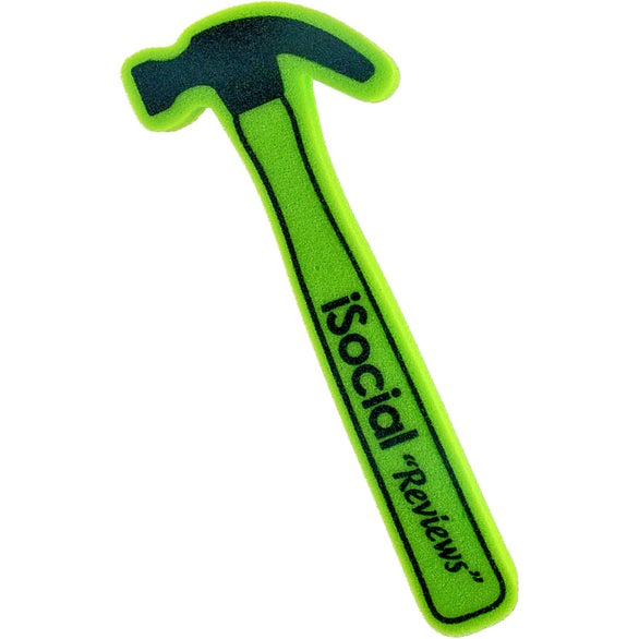 Kelly Green Foam Waver Hammer