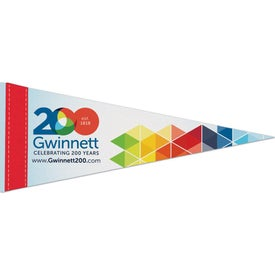 "Premium Felt Pennant with 1"" Sewn Strips"