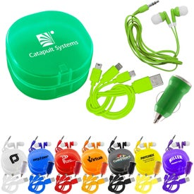 Carry All Ear Buds and Charger Car Sets (UL Listed)