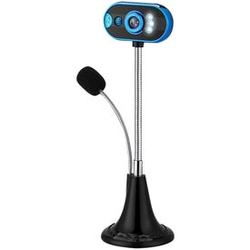 USB Webcam Microphone and LED Lights with Flexible Gooseneck