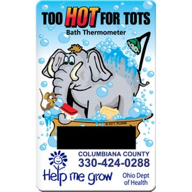 Animal Bath Thermometer Card