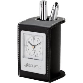 Desk Clock and Pen Cup