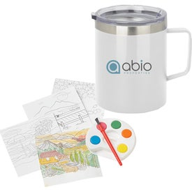 Adult Paint Set and Coffee Mugs (12 Oz.)