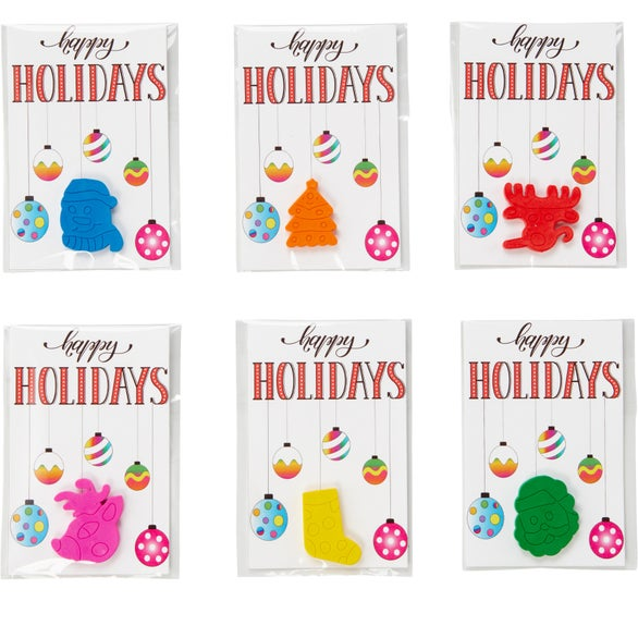 Full Color Imprint Assorted Holiday Crayons
