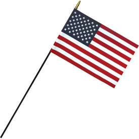 Deluxe Polyester U.S. Stick Flags (12