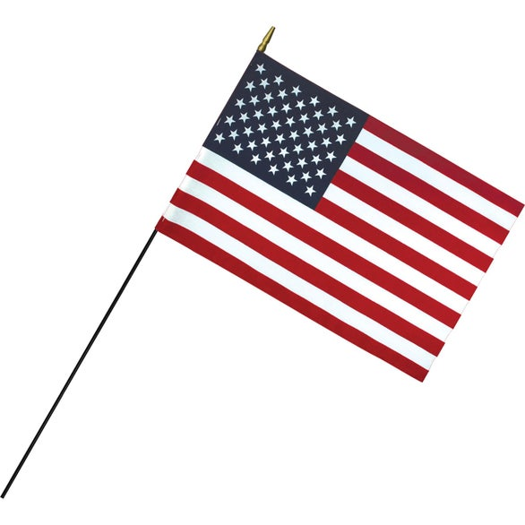 Red / White / Blue Deluxe Polyester U.S. Stick Flag