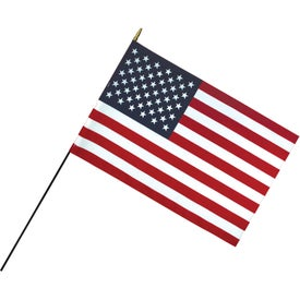 Deluxe Polyester U.S. Stick Flags (36