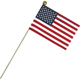 Economy Cotton U.S. Stick Flags (9