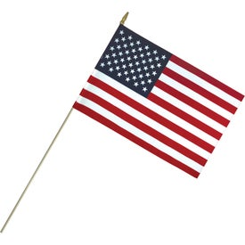 Lightweight Cotton US Stick Flags with Spear Top (18