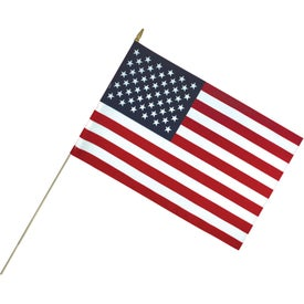 Lightweight Cotton US Stick Flags with Spear Top (36