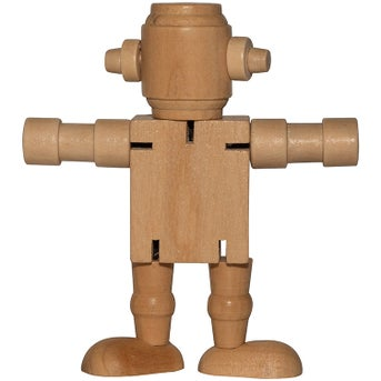 Click Here To Order Mini Wood Robots Printed With Your Logo For