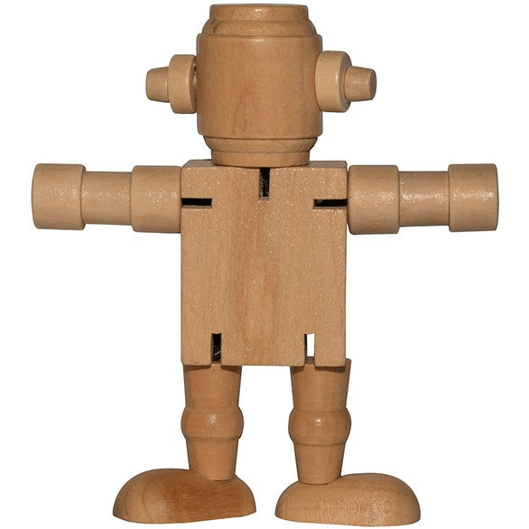 Wood Mini Wood Robot