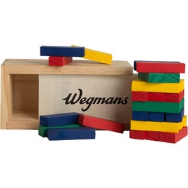 Multi-Colored Block Wooden Tower Puzzle