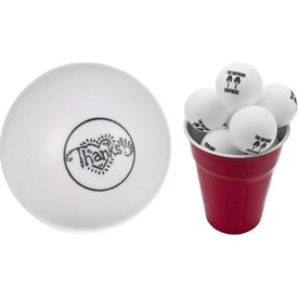 Ping Pong Ball (Ink Imprint, White)