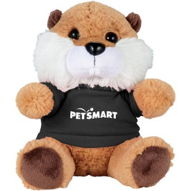 "6"" Beaver Plush Animal with Shirt"