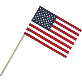 Economy Cotton U.S. Stick Flags