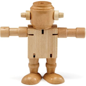 RoboDroidBot Wooden Poseable Robot