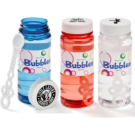 Translucent Bubble Bottle with Imprinted Cap (4 Oz.)