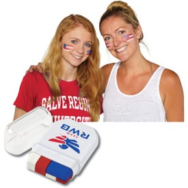 USA Flag Fanbrush Face Paint