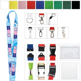"Polyester 4 Color Lanyard (3/4"")"