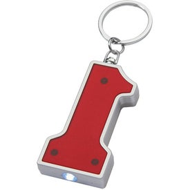 #1 Shape LED Key Chain Imprinted with Your Logo