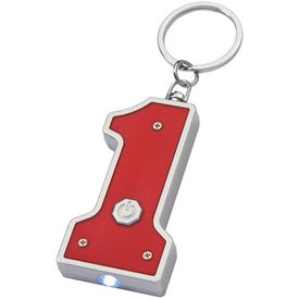 Monogrammed #1 Shape LED Key Chain