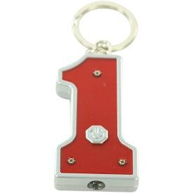 #1 Shape LED Key Chain for Customization