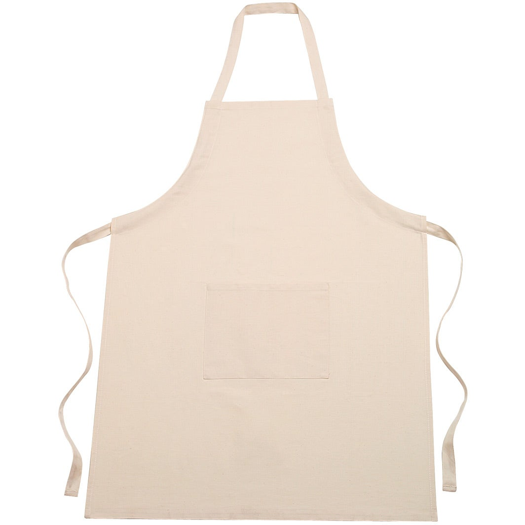 Customized 100 Cotton Aprons Unisex Natural Household Kitchenware