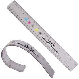 """Imprinted 12"""" Flexible Ruler"""