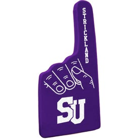 "12"" #1 Foam Hand Printed with Your Logo"