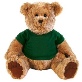 "Plush 12"" Traditional Teddy Bear Imprinted with Your Logo"